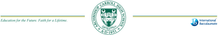 ARCHBISHOP CARROLL HIGH SCHOOL